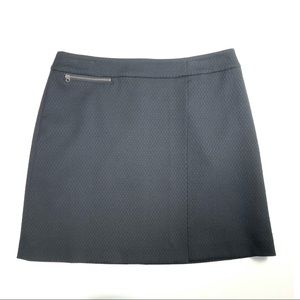 Halogen Black Skirt With Zipper Detail